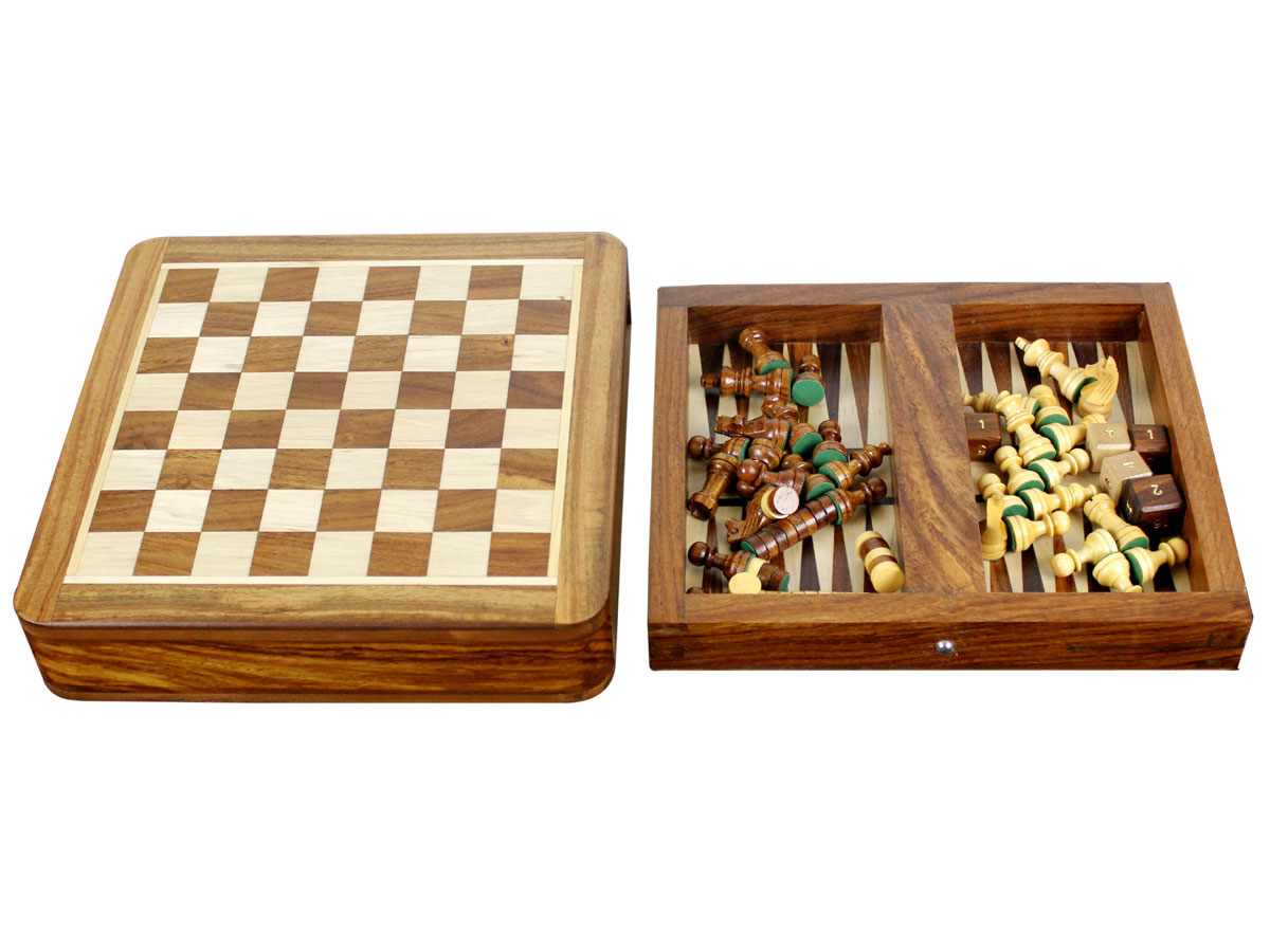 Backgammon and chess board detached