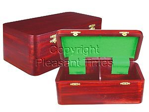"""Wooden Chess Box for Storage of Pieces from King Size 4"""" to 4-1/2"""" in Mahogany Color"""