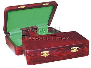 "Wooden Chess Pieces Storage Box for King Size 3-1/2"" to 3-3/4"" Rosewood Colored"
