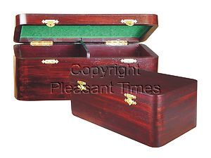 """Wooden Chess Box for Storage of Pieces from King Size 3-1/2"""" to 3-3/4"""" in Rosewood Color"""