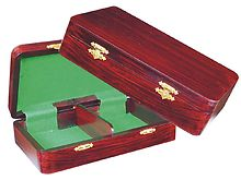 "Wooden Chess Pieces Storage Box for King Size 3"" to 3-1/2"" Rosewood Colored"