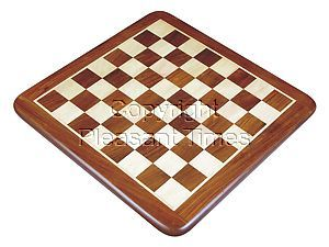 """Flat Wooden Chess Board Golden Rosewood/Maple 23"""""""