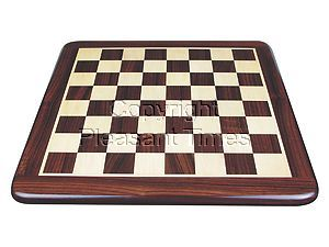 """Rounded Edges Wooden Flat Chess Board Rosewood/Maple 18"""""""