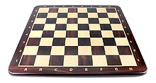 """24"""" Falcon Wooden Chess Board Rosewood - Inlaid Notation - Square Size 2.5"""" (63.5 mm)"""