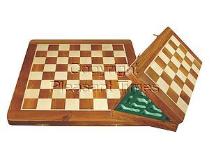 """Wooden Folding Chess Board Golden Rosewood/Maple 21"""""""