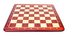 """Wooden Chess Board Bud Rosewood 24"""" - Square Size - 2.50"""" (63.5 mm) -  Inlaid Algebraic Notation"""