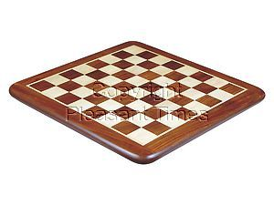 Flat Chess Board Golden Rosewood/Maple Rounded Edges 20""
