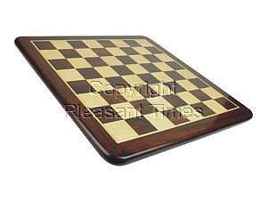 "Wooden Flat Chess Board Rosewood/Maple 19"" Bigger Square Size"