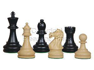 """Sovereign Staunton Wood Chess Pieces Ebonized/Boxwood 4"""""""
