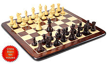 "Rosewood Chess Set Pieces Emperor Staunton 3.6"" + 2 Extra Queens"