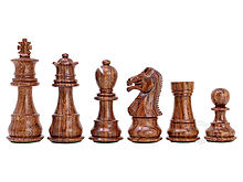 "Rosewood/Boxwood Chess Set Pieces Galaxy Staunton 3"" + 2 Extra Queens - Triple Weighted"