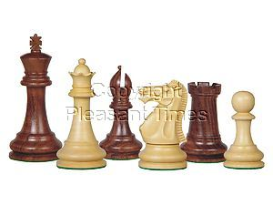 Tournament Chess Pieces Wooden Monarch Staunton Rosewood/Boxwood 4""