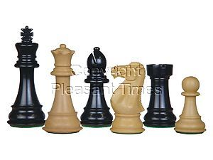 Perfect Tournament Chess Set Pieces Imperial Staunton Ebonized/Boxwood 4""