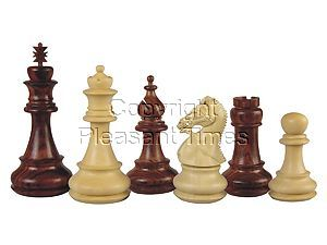 Premier Chess Pieces Regalia Staunton Rosewood/Boxwood 4-1/2""