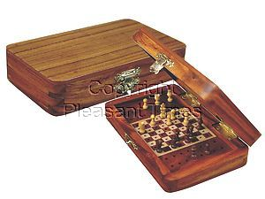 """Pegged Chess Set with Extra Pegs Standing Space Golden Rosewood/Maple 5""""x3"""""""