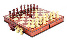 "Bud Rosewood / Boxwood Chess Set Pieces Galaxy Staunton 3"" (76 mm) with 15"" Bud Rosewood Board + 2 Extra Queens, 4 Extra Knights & 2 Extra Pawns"