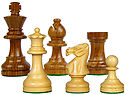 "Popular Staunton Wooden Chess Pieces King Size 3"" Golden Rosewood/Boxwood"