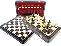"""Wooden Chess Set Folding 13"""" Board + Broad Base Weighted Pieces with 2 Extra Queens and 2 Extra Pawns Rosewood / Maple + Notations"""