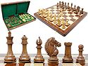 """Rio Staunton Biggie Knight Golden Rosewood 4""""  Chess Set - 21""""  Folding Chess Board with Algebraic Notation - 2 Extra Queens"""