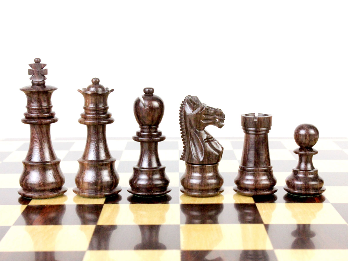 "Galaxy Magnetic Chess Pieces in Rosewood King Height 3"" (76mm)"