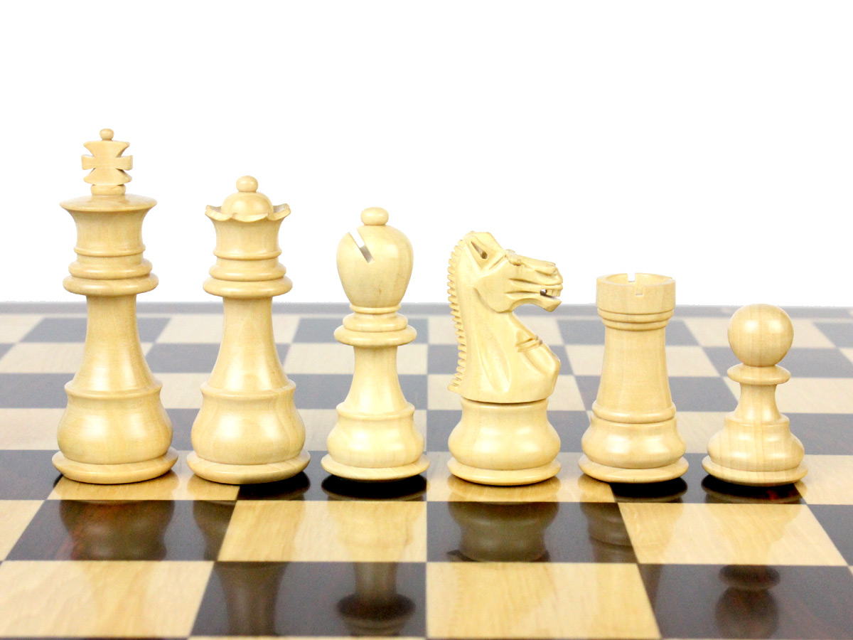 "Galaxy Magnetic Chess Pieces in Boxwood King Height 3"" (76mm)"