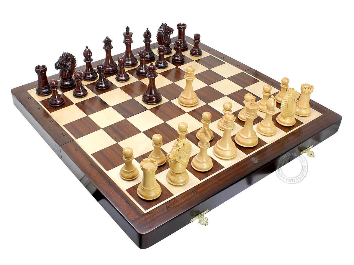 Flat layout of chess board with Rio pieces on top