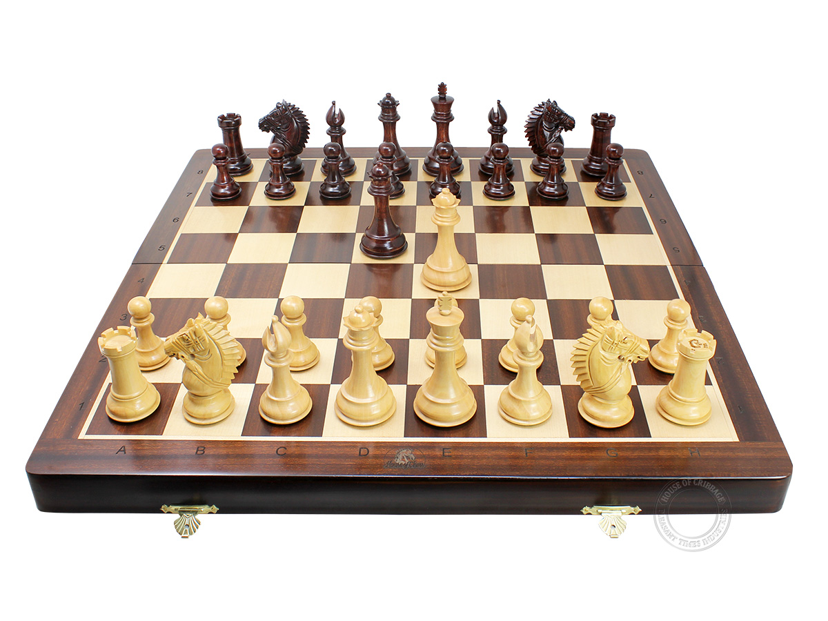 Rio Staunton Biggie Knight Boxwood Chess Pieces