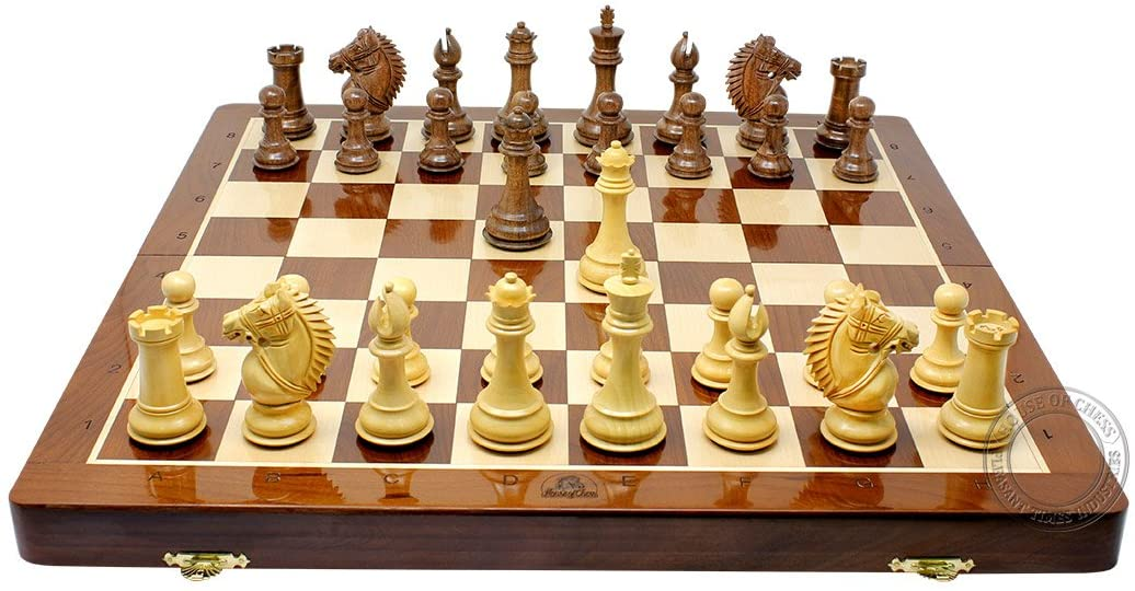 """21""""  Folding Chess Board with Engraved Algebraic Notation"""