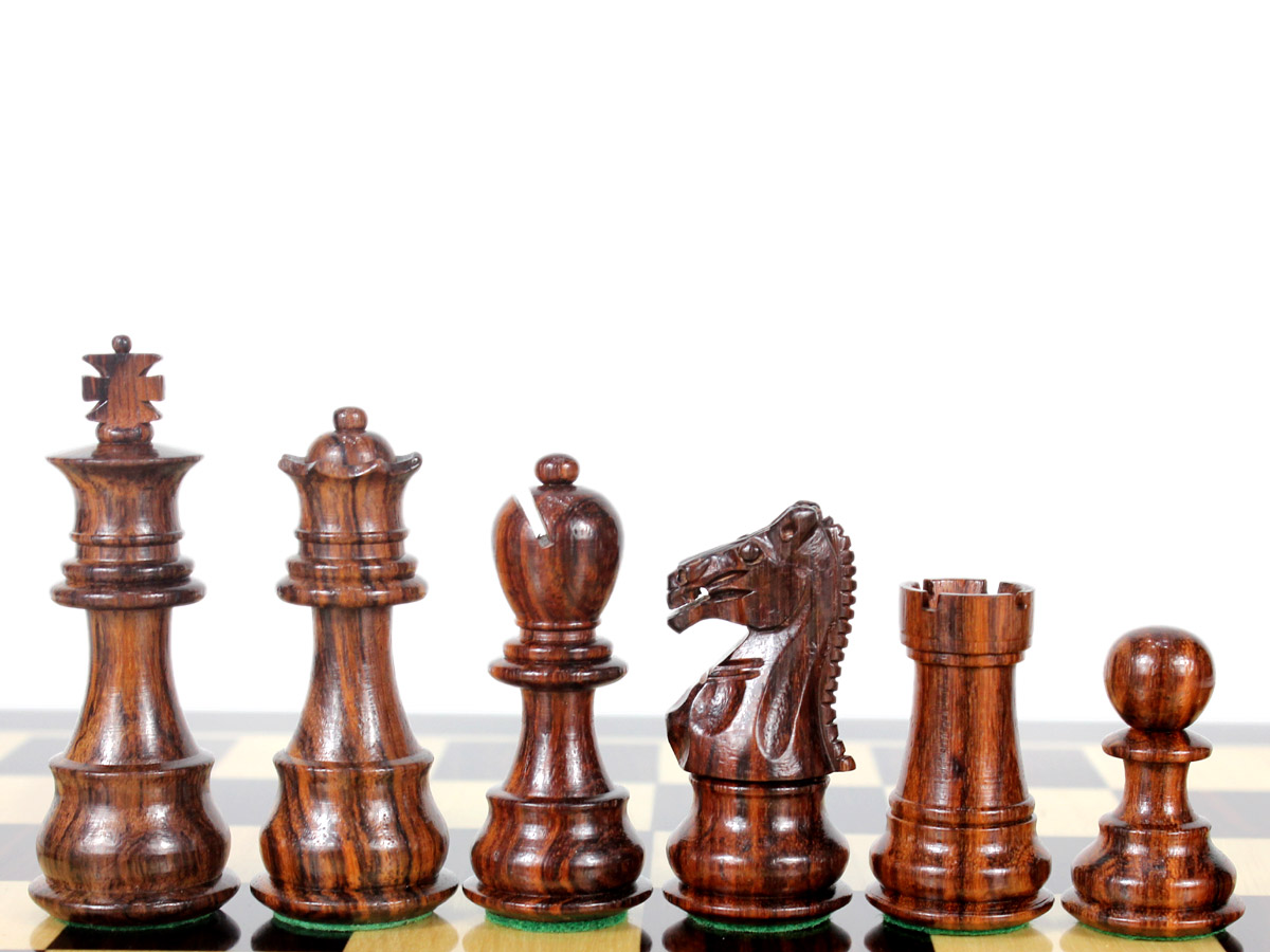 """Heirloom Collection Galaxy Staunton Rosewood Chess Pieces King Size 3"""" (76 mm)"""
