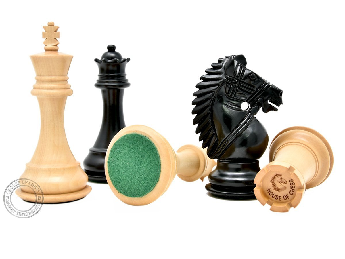 Felted Bottom of Chess Pieces and Engraved Logo on Rook
