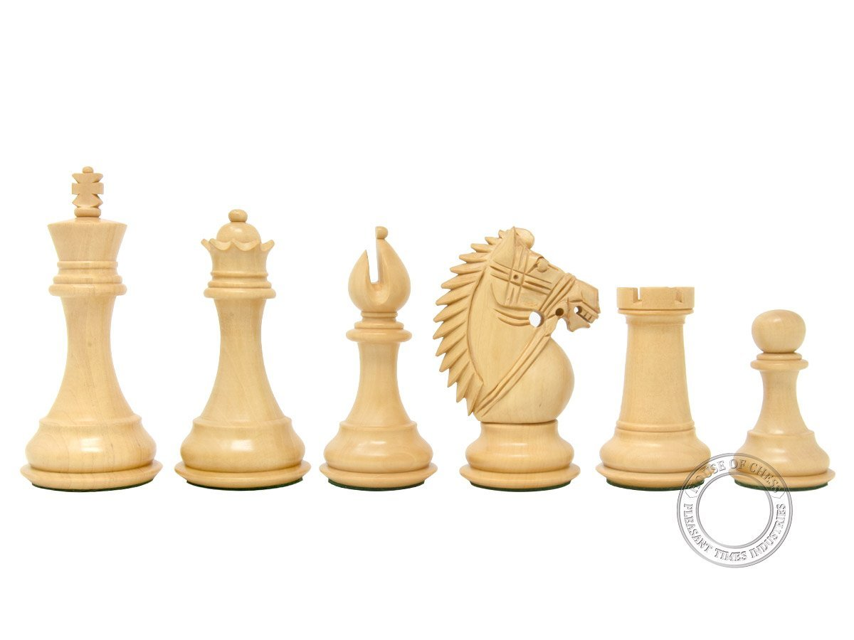 "Boxwood Chess Pieces Rio Staunton - King Height: 4.0"" (102 mm)"