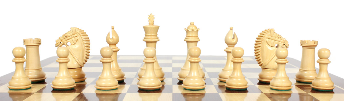 Beautiful Rio chess pieces with beveled bases