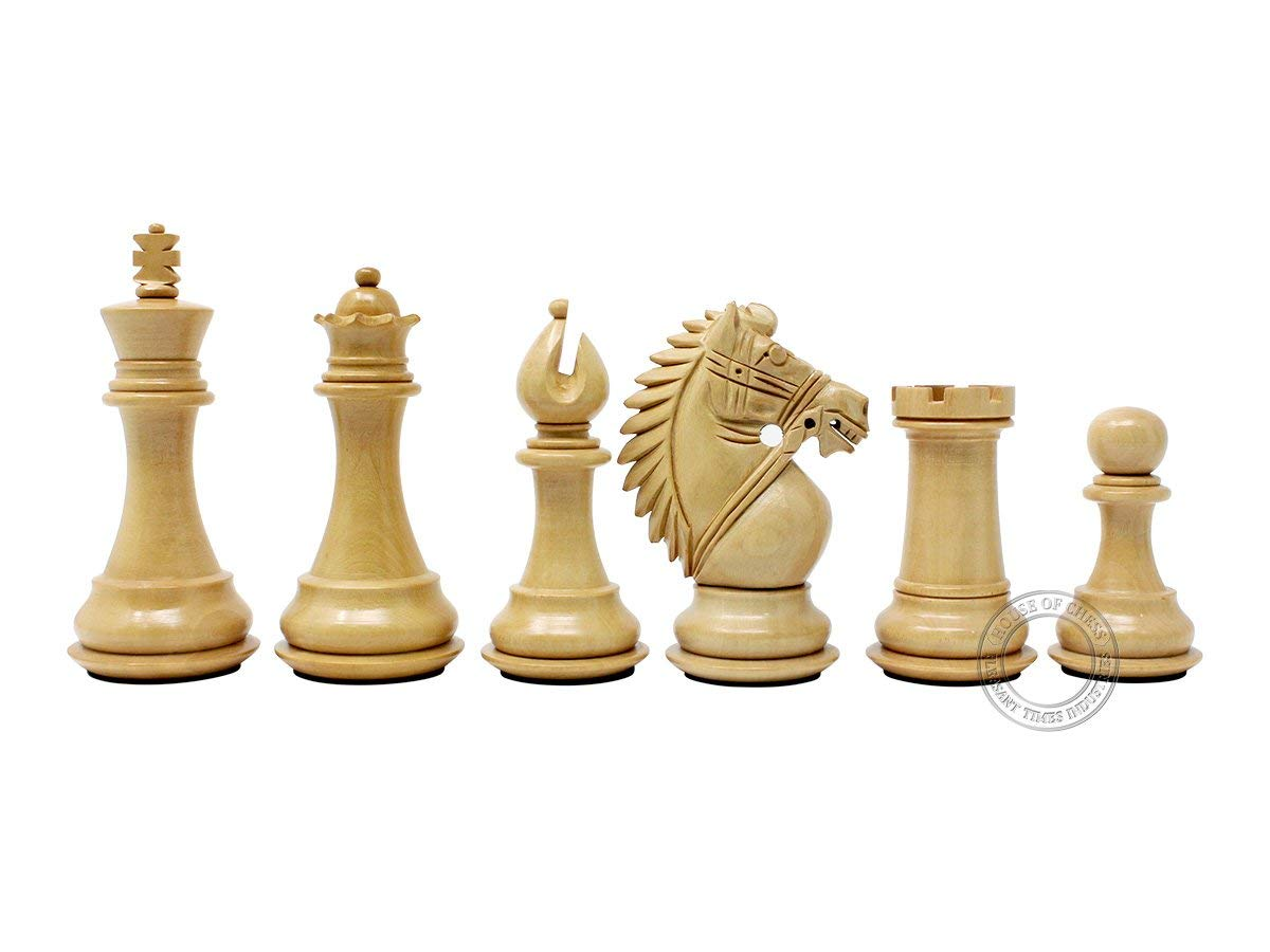 """Rio Staunton Boxwood Chess Pieces - King Height 3.75"""""""