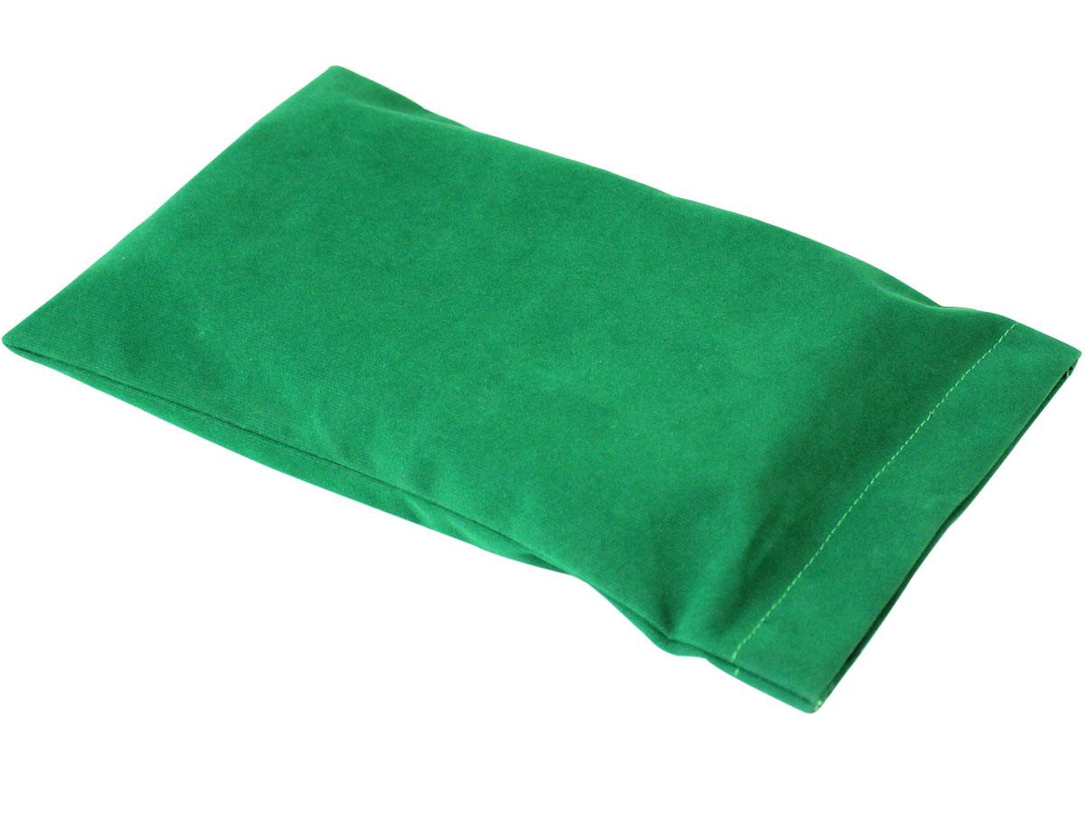 Green Velvet Pouch for Travel Chess Set