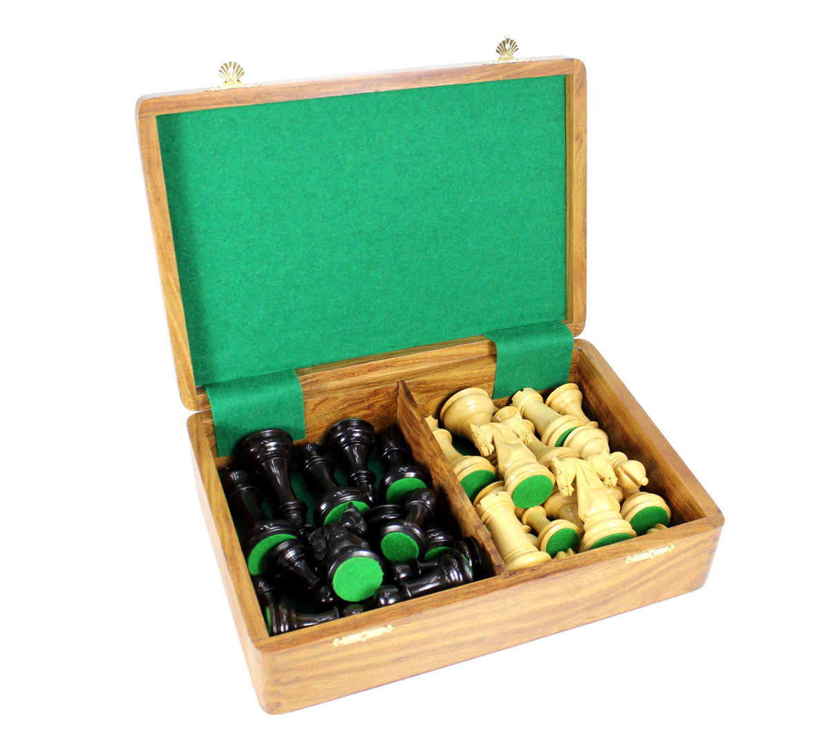Free Wooden storage box provided with this chess set.