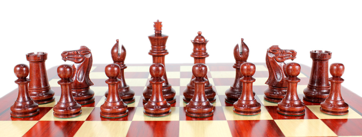 All chess pieces are double weighted. Total weight of the chess set is 3.086 lbs (1400 grams).