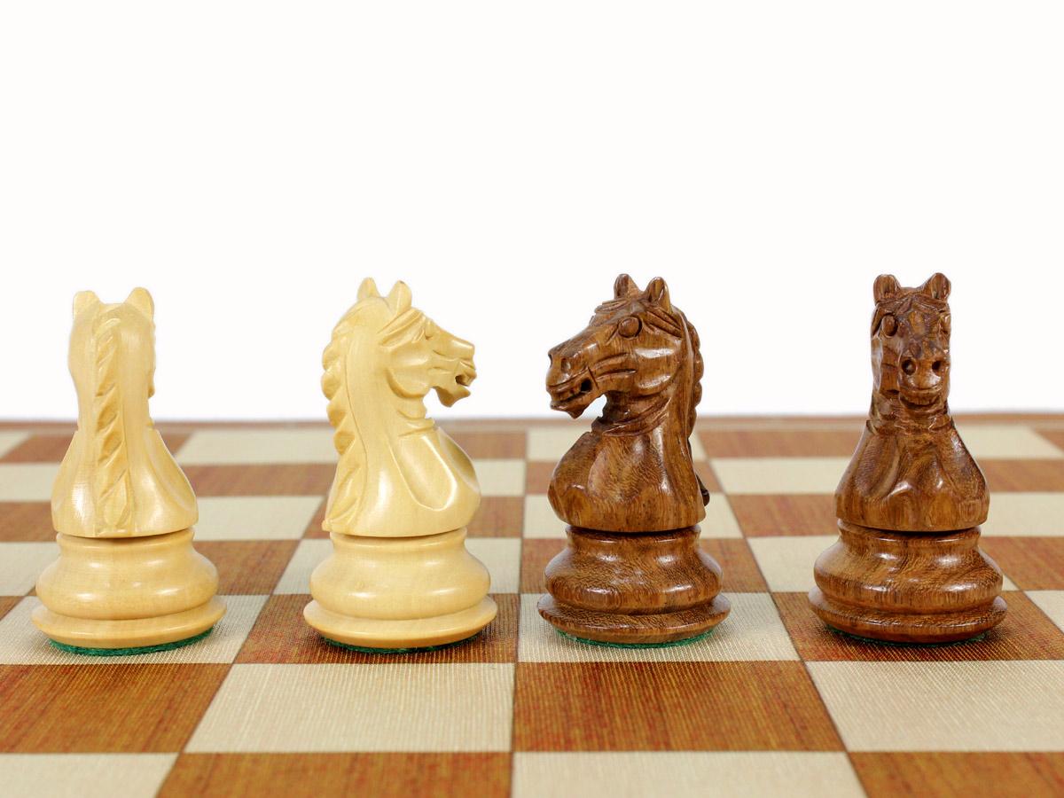 Fierce Knight Staunton Chess Pieces - Knights