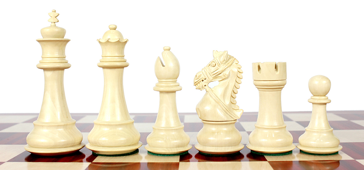 Boxwood chess pieces.