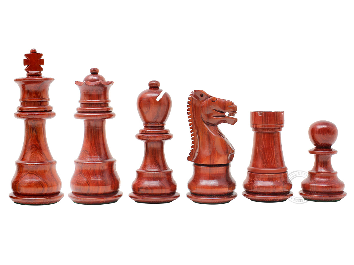 Galaxy Staunton Blood Wood Chess Pieces