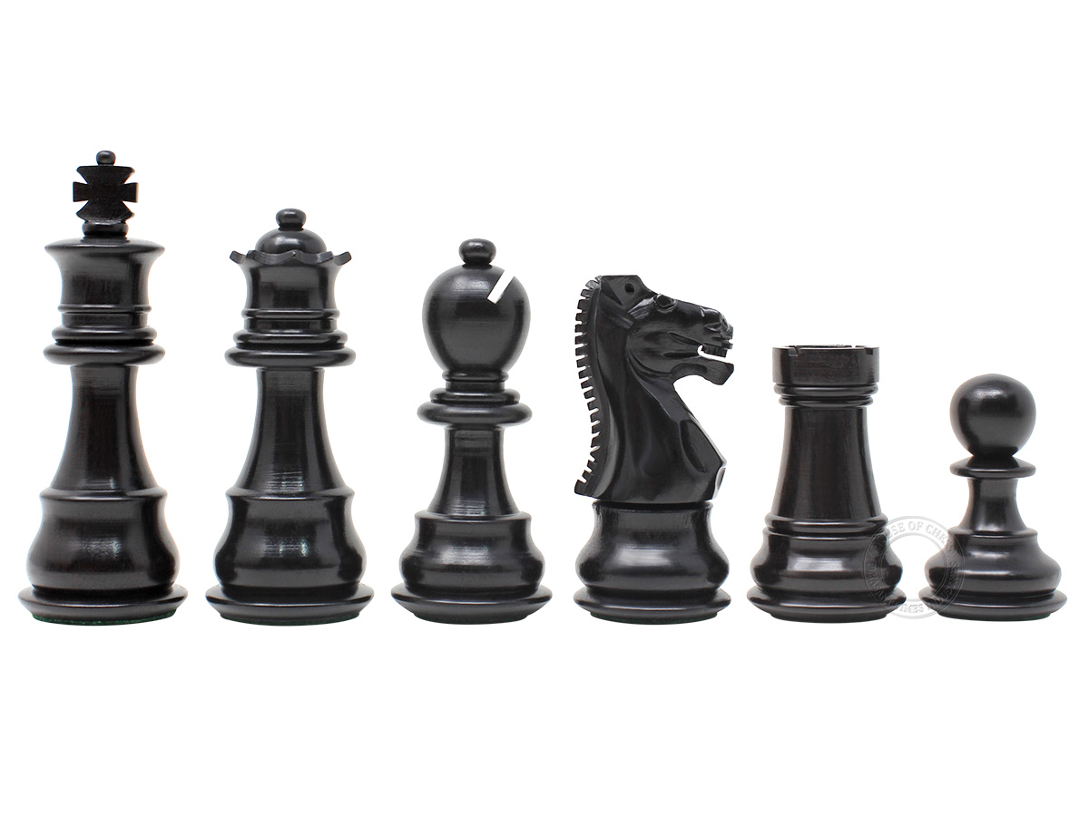 Galaxy Staunton Ebony Wood Chess Pieces