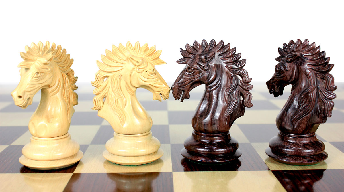 Encore Staunton high quality hand crafted Knights by master craftsmen.