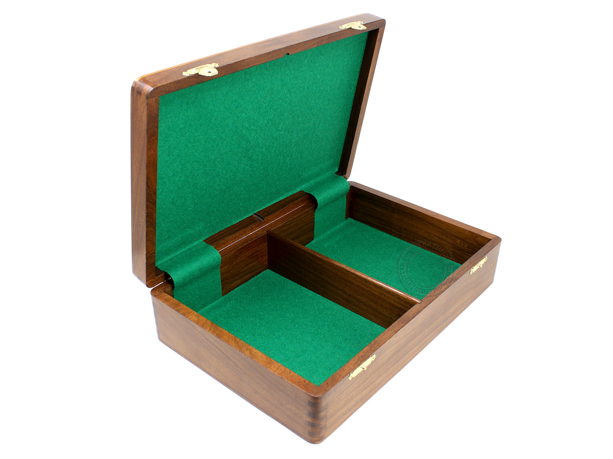 "Box dimensions are Length - 13.5"" (34.29 cm) Width - 9.5"" (24.13 cm) Height - 3.75"" (9.52 cm)"