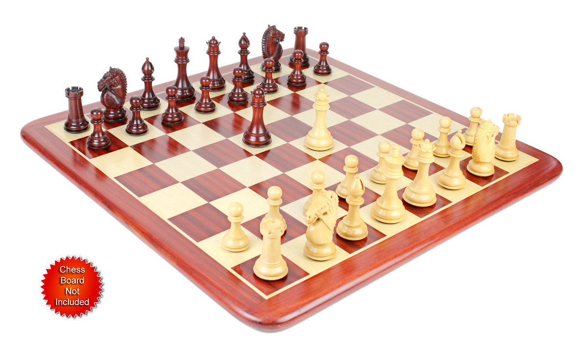 Our sale is for chess pieces only and the chess board is not included