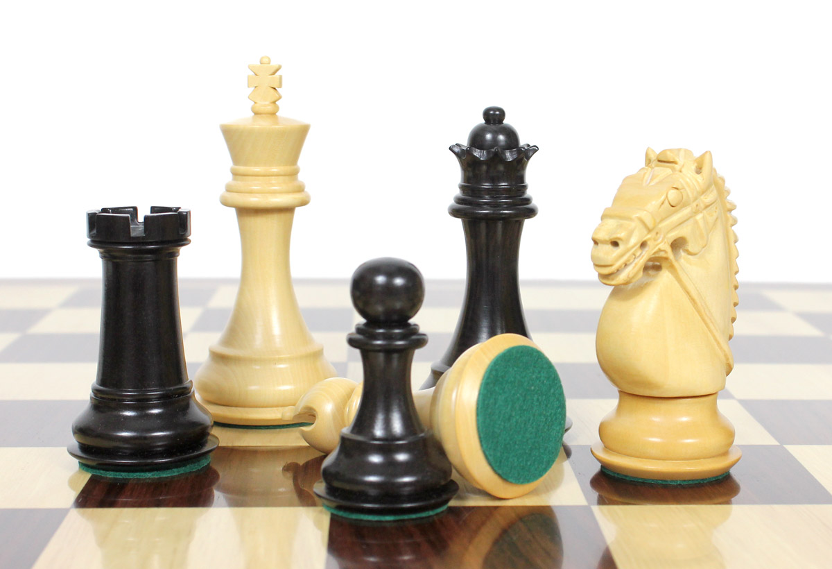 All chess pieces have felted bottom