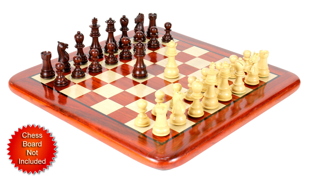 "Bud Rosewood / Boxwood Chess Set Pieces Galaxy Staunton 3"" (76 mm) + 2 Extra Queens - Triple Weighted"
