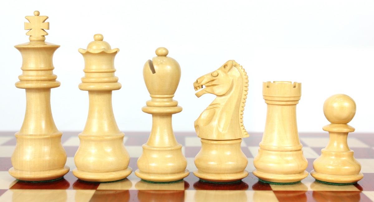 Boxwood chess pieces