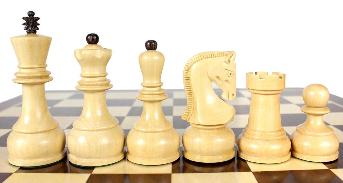 Zagreb Staunton chess pieces in Boxwood