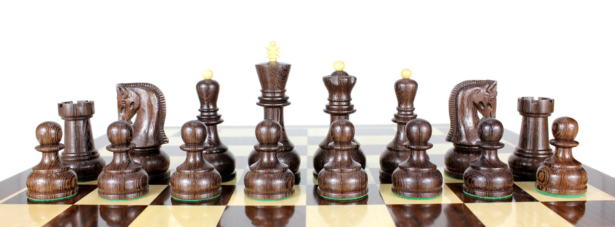All chess pieces are Triple weighted. Total weight of the chess set is 4.629 lbs (2100 grams).
