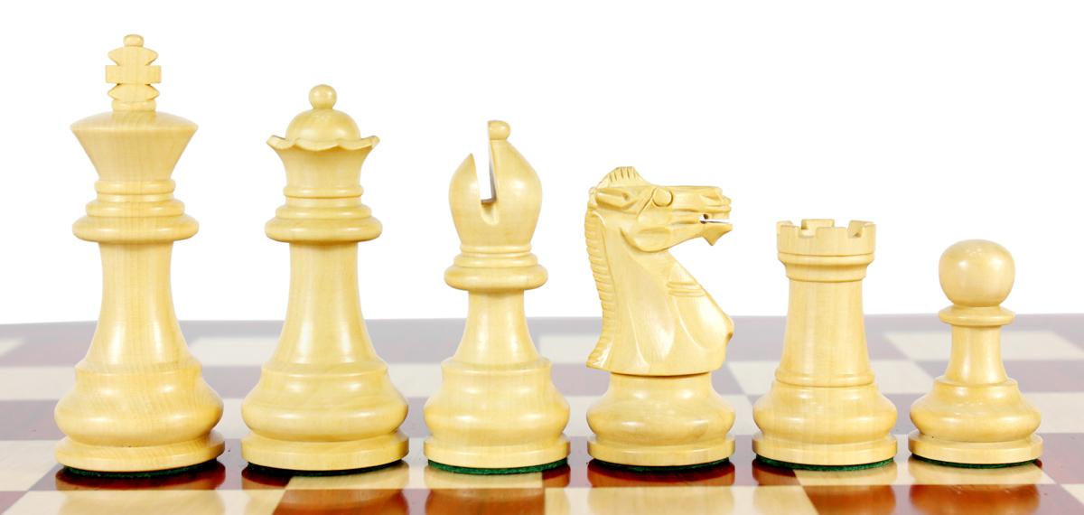 Monarch Staunton Boxwood Chess Pieces