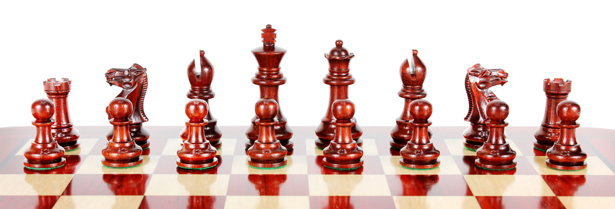 All chess pieces are double weighted. Total weight of the chess set is 1.32 lbs (600 grams).